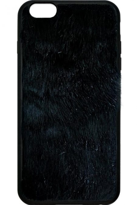 Black Faux Fur iPhone 6/7 case
