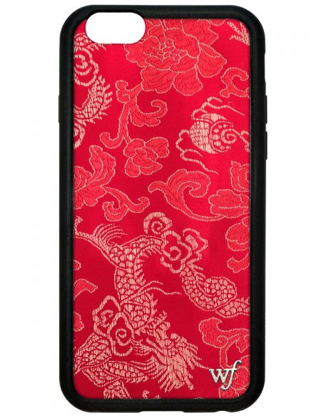 Red Brocade iPhone 6/7 Case