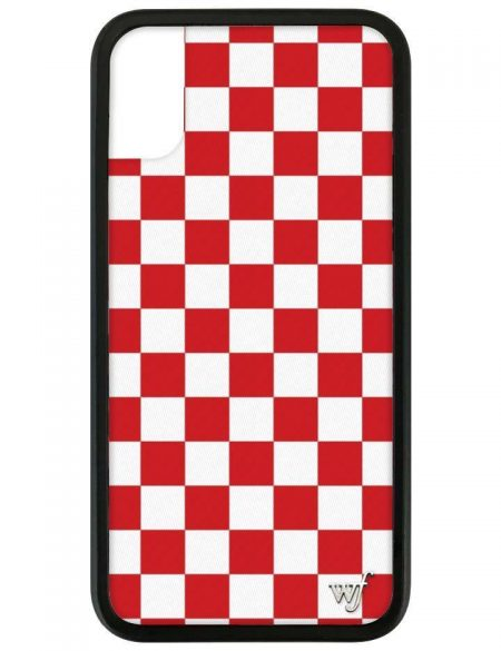 PRE-ORDER: Red Checkers iPhone XR case