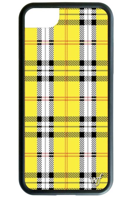 PRE-ORDER: Yellow Plaid iPhone 6/7/8 case