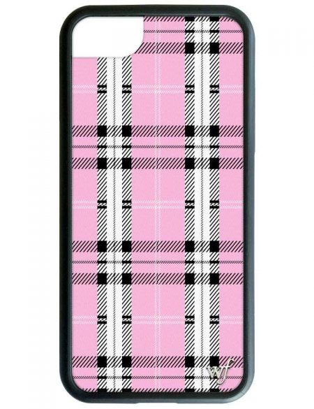 PRE-ORDER: Pink Plaid iPhone XR case
