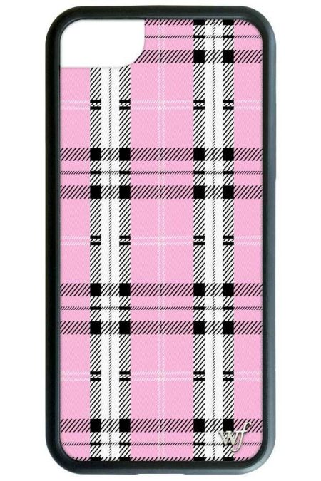PRE-ORDER: Pink Plaid iPhone X/XS case
