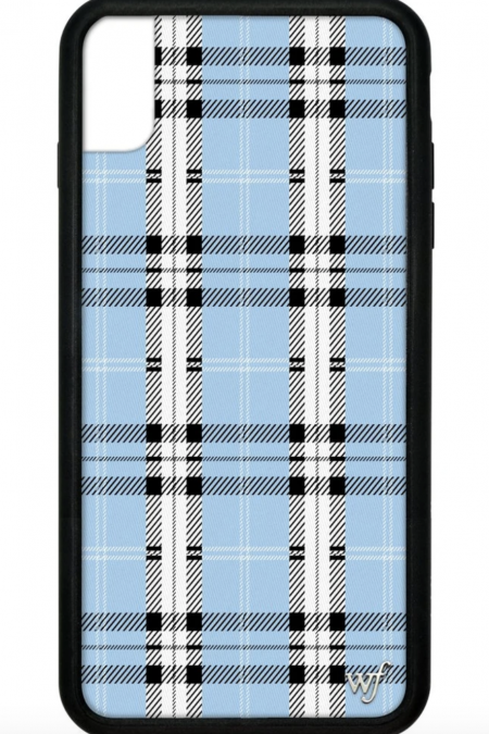 PRE-ORDER: Blue Plaid iPhone XR case