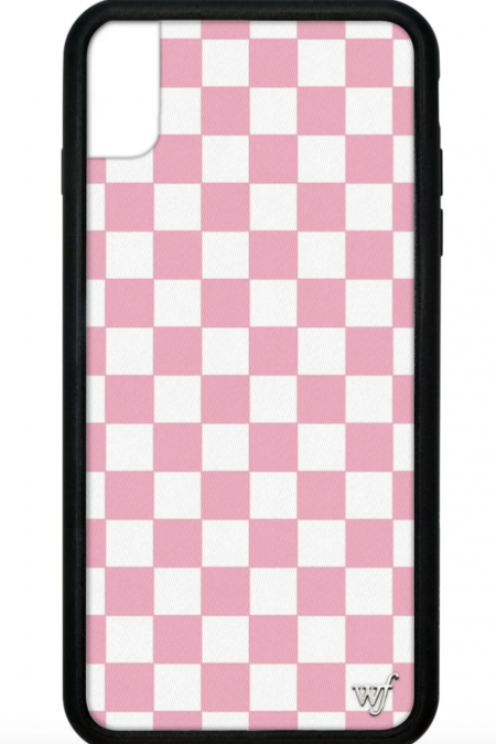 Pink Checkers iPhone XS Max case