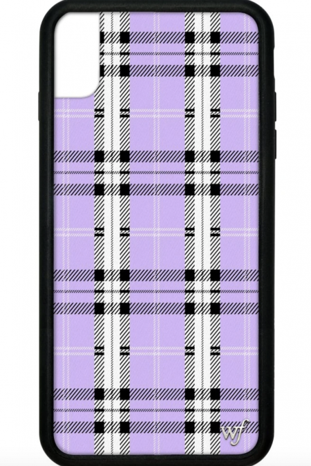 PRE-ORDER: Lavender Plaid iPhone XS Max case