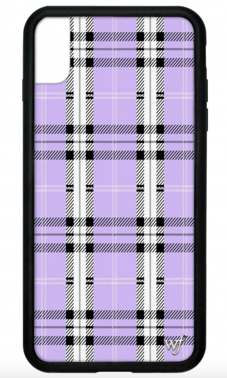 PRE-ORDER: Lavender Plaid iPhone XR case