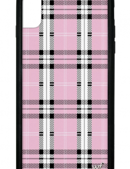 Pink Plaid iPhone XS Max