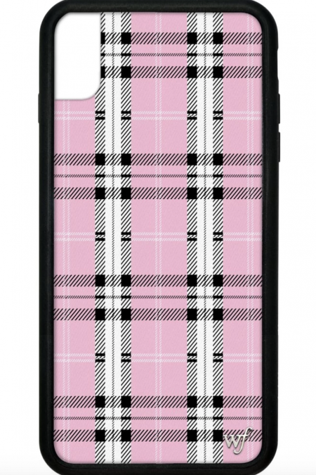 Pink Plaid iPhone XR case