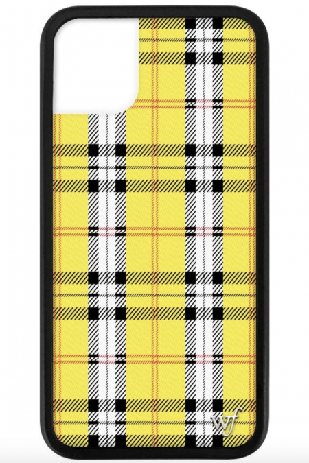 Yellow Plaid iPhone 11 case