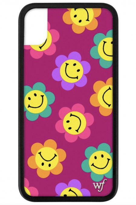 PRE-ORDER: Smiley Flowers iPhone XR case