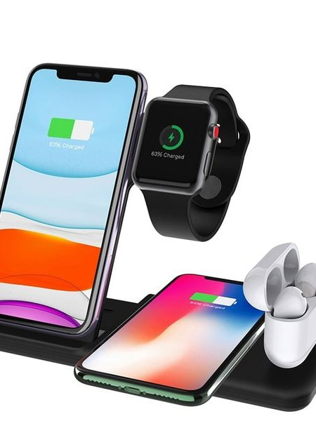 3-in-1 Flat Wireless Charging Dock for iPhone and AirPods and Apple Watch